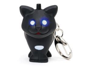 Black Cat Keychain! - New With Meow Sound & LED Light Up Eyes!