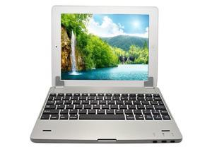 9.7 Inch Wireless Magnetic Multi-angle Aluminum Bluetooth Keyboard 4000mah Lithium Battery Cover Case for New Ipad Ipad 3 ...