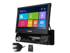 """1 DIN Car Stereo GPS DVD Player In Dash 7"""" Touch Screen WIN8 UI CDC WiFi Radio White LED Reversing Camera"""