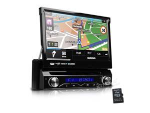 "XTRONS Car Stereo DVD Player In Dash GPS Radio RDS 1 Single DIN 7"" HD Touch Screen Bluetooth"