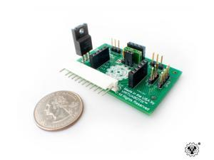 Versalino Sense & Move Environmental Interface Board to control up to 3 5V Servo Motors, a DHT, Ultrasonic, Accelerometer, ...