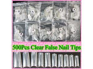 500pcs False Nails Tips French Design Acrylic UV Gel DIY Extension