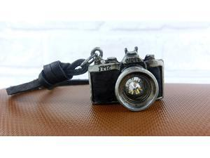 Vintage Men Camera Leather Necklace Retro Handmade Alloy
