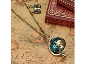 2PCS Vintage Tellurion Telescope Charms Pendant Chain Necklace Beautiful  Unique Jewelry