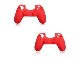 2PCS Silicone Case Rubber Soft Gel Skin Cover Shell For Sony Playstation 4 PS4 Controller