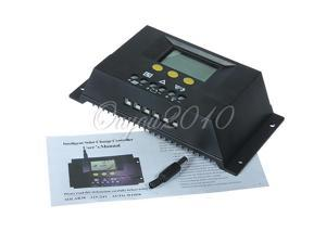 30A Battery Charging PWM Solar Panel Charge Controller Discharge Regulator with Customized LCD Display Screen 12V 24V