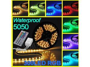 Waterproof 5M 150 LED 5050 RGB SMD Flexible Strip Light Lamp + 44 Key IR Remote Controller
