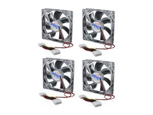 4pcs Cooler Master 120mm X 25mm 4 Pins CPU Heatsink Case Cooling Fan for Laptop PC Computer LED Light