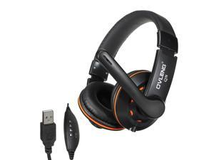 OV- Q5 USB 2.0 Stereo Headset Headphone with Microphone Mic for PC Laptop