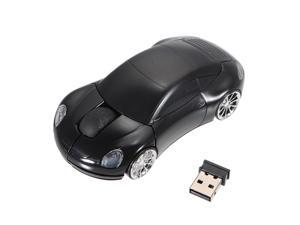 2.4G 3D 1600dpi Wireless Optical Car Mouse + USB Receiver for PC Laptop Macbook Windows XP 98 2000 Vista Win 7 Linux