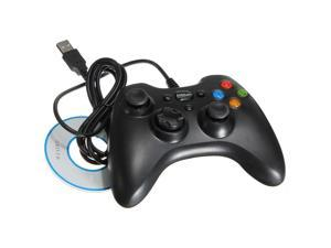 Black USB Wired GamePad Game Shock Game Controller Joypad For Windows PC