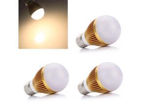 3pcs E27 6W Warm White Energy Saving LED Light Lamp Bulb Globe Medium Base 110-240V