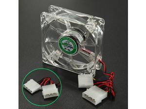 80mm x 80mm x 25mm 4 Pins LED Colorful Cooling Cooler CPU Case Fan For Computer PC