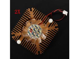 2x NEW 55x55x11mm CPU Cooler Cooling Fan Heatsink for PC Computer Laptop VGA Video Card