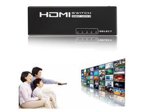 5 Port 1080P Video HDMI Switch Switcher Splitter + IR Remote for HDTV PS3 HD DVD