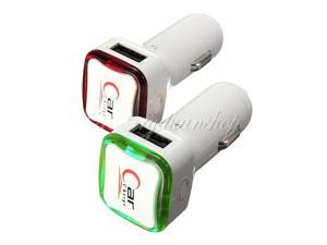 2 Ports USB Car Charger Adapter For Apple iPhone 5 4 4S iPad Cellphone HTC