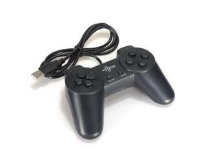 USB 2.0 Wired GamePad Game Pad Shock Joypad Joystick Controller for Window PC Computer Laptop Black