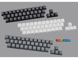 Keycool Top Print White Gray Black 37 KeyCaps for OEM Keyboard grey