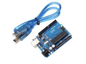 Arduino UNO R3 Singlechip Development Board Microcontroller 2012 MEGA328P ATMEGA16U2 Arduino Compat+ USB Cable