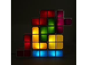 AC110-220V Tetris DIY Constructible LED Desk Lamp Light - Novelty Gift Recesky, Retro Game Style, Stackable