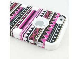 Heavy Duty 3in1 Triple Layer Hybrid Combo Mystery Stripe Line Tribal Case Hard Back Front Cover Soft Inner Skin for iPhone ...