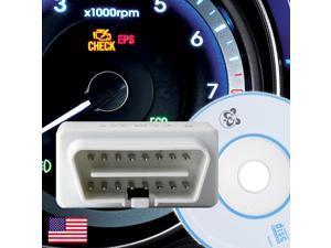 ELM327 Compatible Mini White OBD 2 / OBDII wireless Bluetooth Car Auto Diagnostic Code Reader Scan Tool - *US Seller*