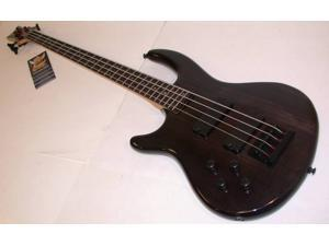 Dean Edge 4 Electric Bass, Left Hand, Grover Tuners, Transparent Black, E4L TBK