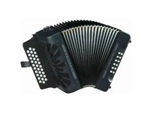 Hohner Compadre 31x12 3-Row Diatonic Accordion, Key FBE, Case, Black, COFB