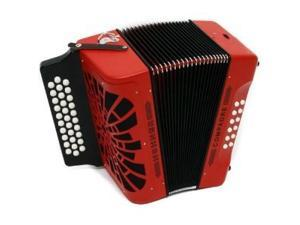 Hohner Compadre 31x12 Diatonic Button Accordion, Key FBE, Case/Straps, Red, COFR