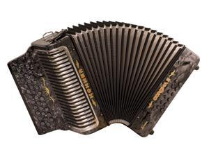 Hohner Corona Xtreme II Accordion, 34 Button, EAD/ MI, Black Pearl, CXEBP