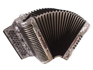 Hohner Corona Xtreme II Accordion, 34 Button, EAD/ MI, Grey, CXEGR