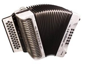 Hohner Corona Xtreme II T Accordion, 34 Button, Pearl White, GCF/SOL, CXIIGW