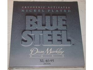 Dean Markley Blue Steel NPS 4-String Bass Guitar Strings, XL Gauge 40-95, 2670A