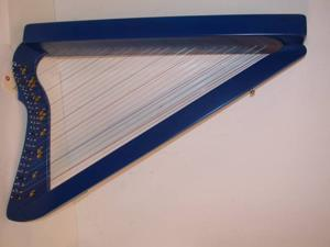 "Harpsicle Rees Harps 26 String 33"" Lap Harp, Blue, Includes Book, HARP BLU + BK"