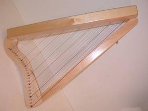 """26-String 33"""" LAP Harp HARPSICLE Rees Harps Made in USA, Book, Natural-Maple"""