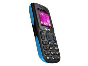 BLU T191 Tank Unlocked Quad-Band Dual SIM Phone with Camera, Bluetooth and MP3 Player (Black/Blue)