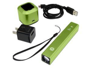 NOCO CL3GR ChargeLight 250 Lumen LED Flashlight + 2600mAh Lithium Battery Pack - Green