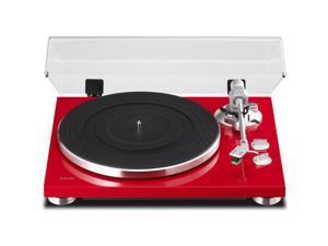 Teac TN-300 2-Speed Analog Turntable with Phono Preamplifier in Red