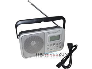 Supersonic SC-1091 4-Band AM/FM/SW1-2 PLL Radio with Alarm Clock and Speaker