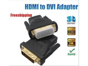 HDMI Adapter HDMI F to DVI 24+1 M Adapter HDMI Female to DVI-D Male Adaptor Gold Plated Connector CPAM Freeshipping
