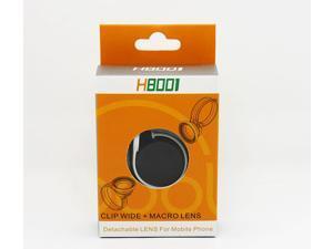 H8001 Universal Fish Eye Lens Clip Wide + Micro Lens Detachable Lens For Mobile Phone Tablet PC