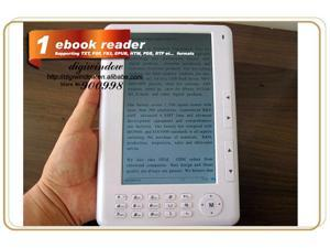 E-book Reader 7 inch 720P TFT Screen Plastic material with 4GB Built-in + Micro SD/TF Card Extension Multi-function ebook ...