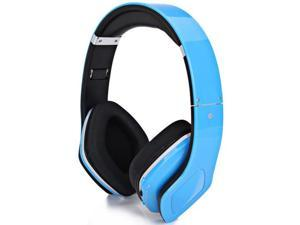 Blue SKY-001 Superb Sound Folding Wireless Micro SD MP3 Player FM Radio Bluetooth Stereo Headset Headphones for Samsung iPhone ...