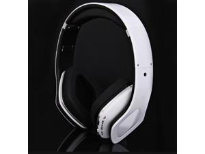 White SKY-001 Superb Sound Folding Wireless Micro SD MP3 Player FM Radio Bluetooth Stereo Headset Headphones for Samsung ...