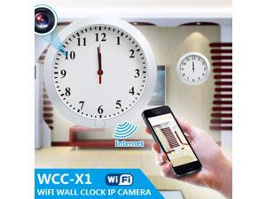 720P WIFI & IP Camera Thermometer Clock DVR With Adjustable Lens