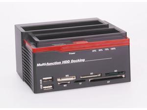 "892u2s External 2.5""/3.5"" SATA Multi-function HDD Docking Station with Clone eSATA 2-Port USB 2.0 HUB MS/M2/XD/CF/SD/TF Card ..."
