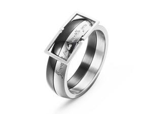 Merdia Stainless Steel Belt Style Ring for Men and Women