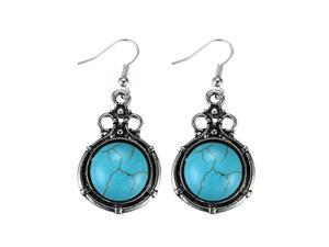 Merdia Vintage Turquoise Dangle Earrings for Woman