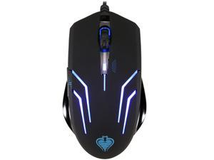 Qisan Crotalus USB 2.0 2000dpi Professional Optical Gaming Mouse Blue lED Design - Black (150cm-cable )