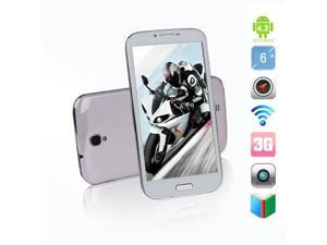 "Blackview JK809 6.0"" HD Screen MTK6589T 1.5Ghz 1GB RAM+8GB ROM 12.6MP Camera Android4.2 with 3G/GPS, White"